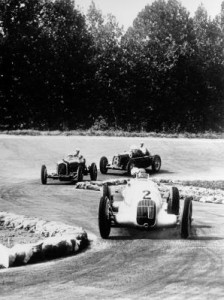 Italian Grand Prix in Monza, September 9, 1934. The winner Rudolf Caracciola at the wheel of a Mercedes-Benz formula racing car W 25 with start number 2.