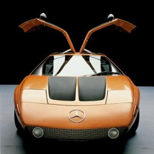 Mercedes-Benz research car C 111-II with four-rotor Wankel engine, 1970.