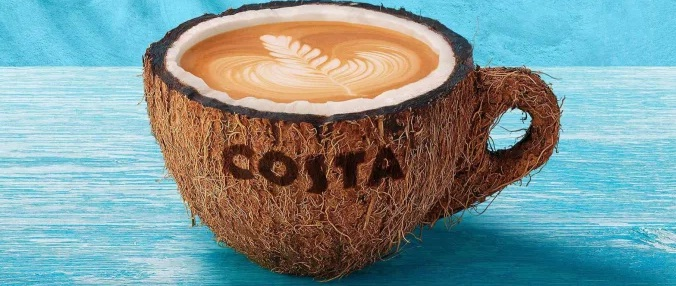 Costa Coffee Announces Coconut: A Fresh Dairy-Free Alternative