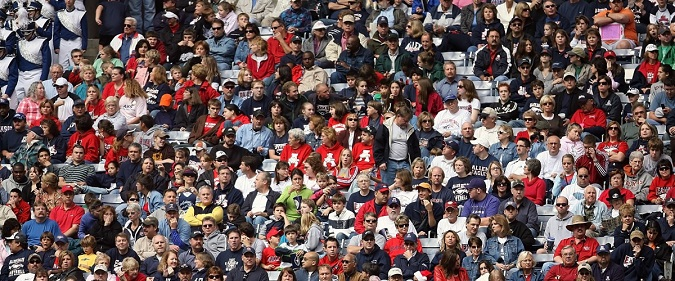 A stadium crowd