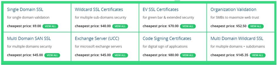 SSL2BUY range of security