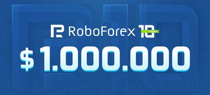 RoboForex gives away $1,000,000 to celebrate its 10-year anniversary