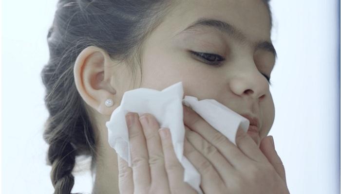 Facewash with tissue