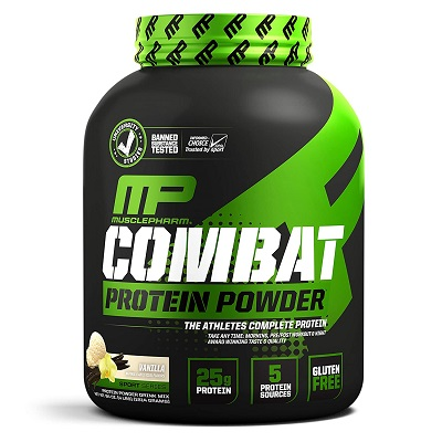 Muscle Pharm Combat Protein Powder – Vanilla Ice Cream Flavor